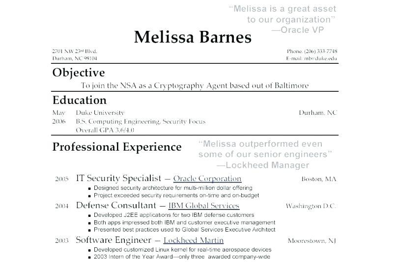 Free Resume Templates For College Applications