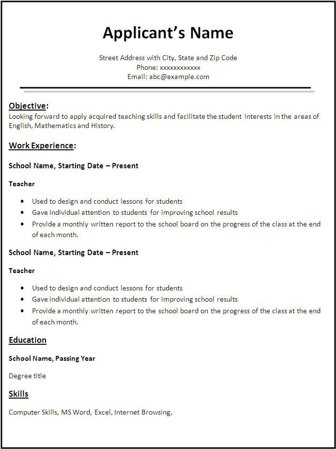 Resume Template Word Free Download 2016 - Templates #145656 ...