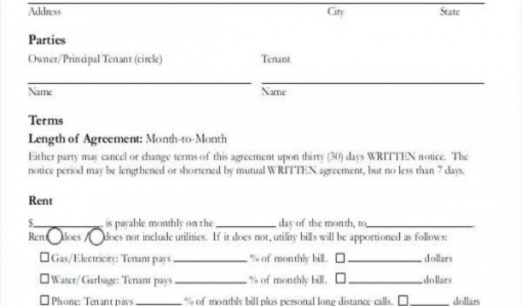 Free Room Rental Agreement Template Word Doc