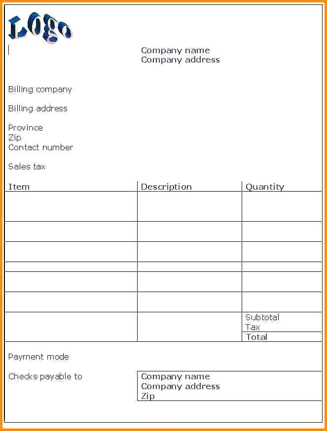 Free Sample Invoice Word Doc