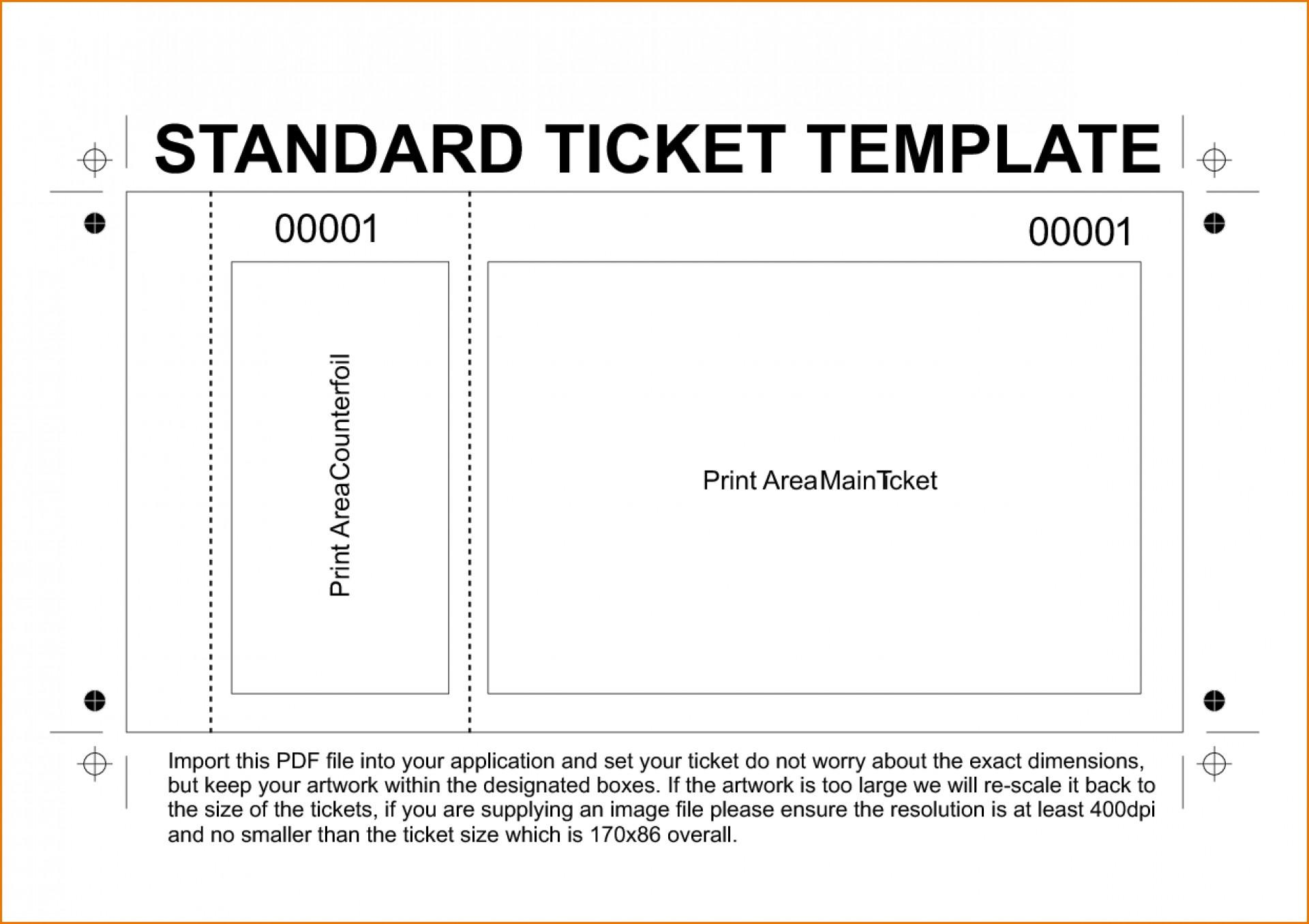 Free Sample Ticket Template