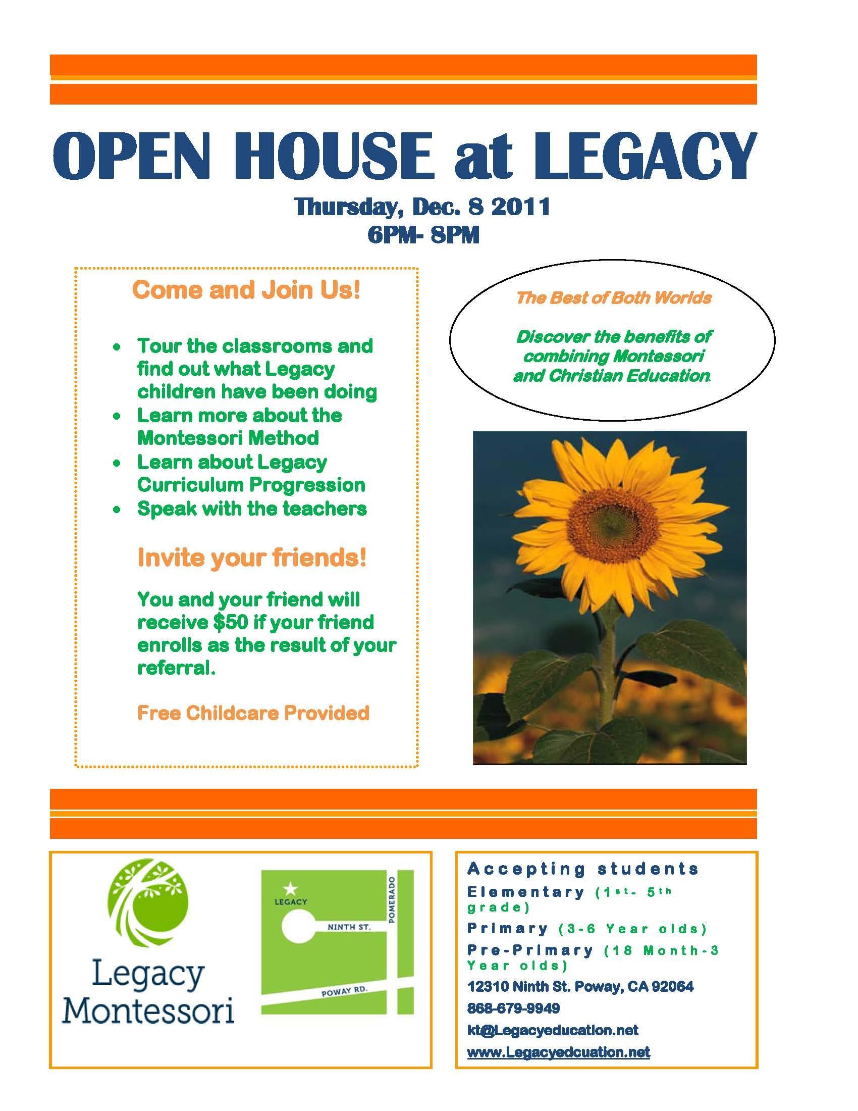 Free School Open House Flyer Template