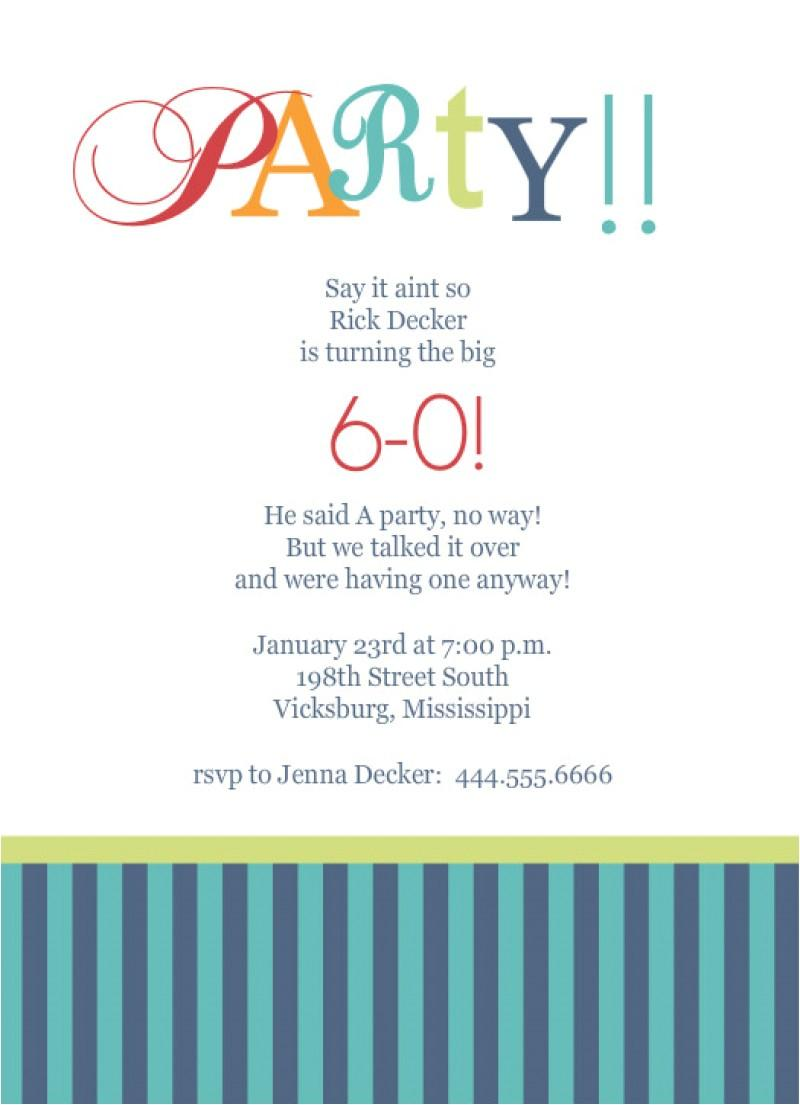 Free Surprise 60th Birthday Party Invitation Templates