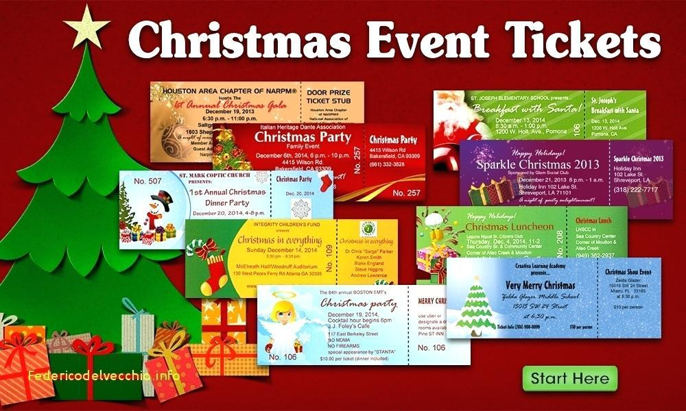 Christmas Party Ticket Template Free Download - Templates