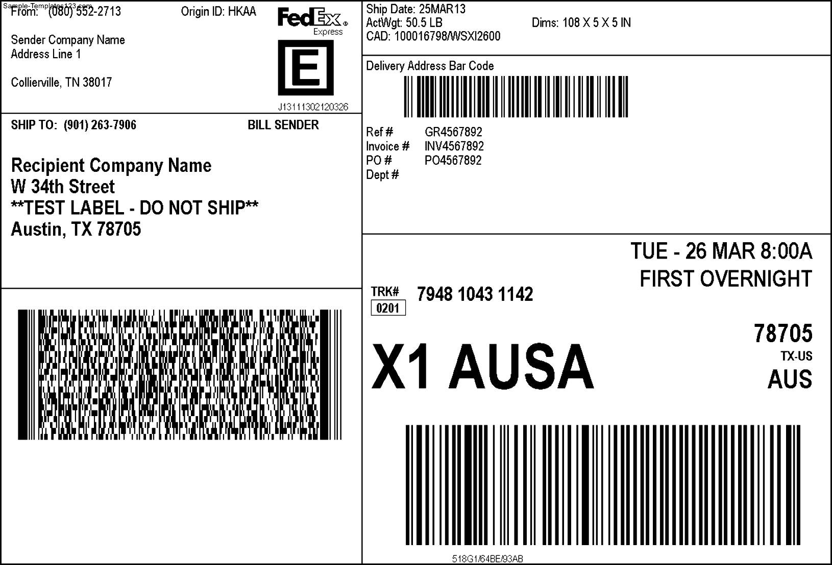 Free Template For 2x4 Shipping Labels