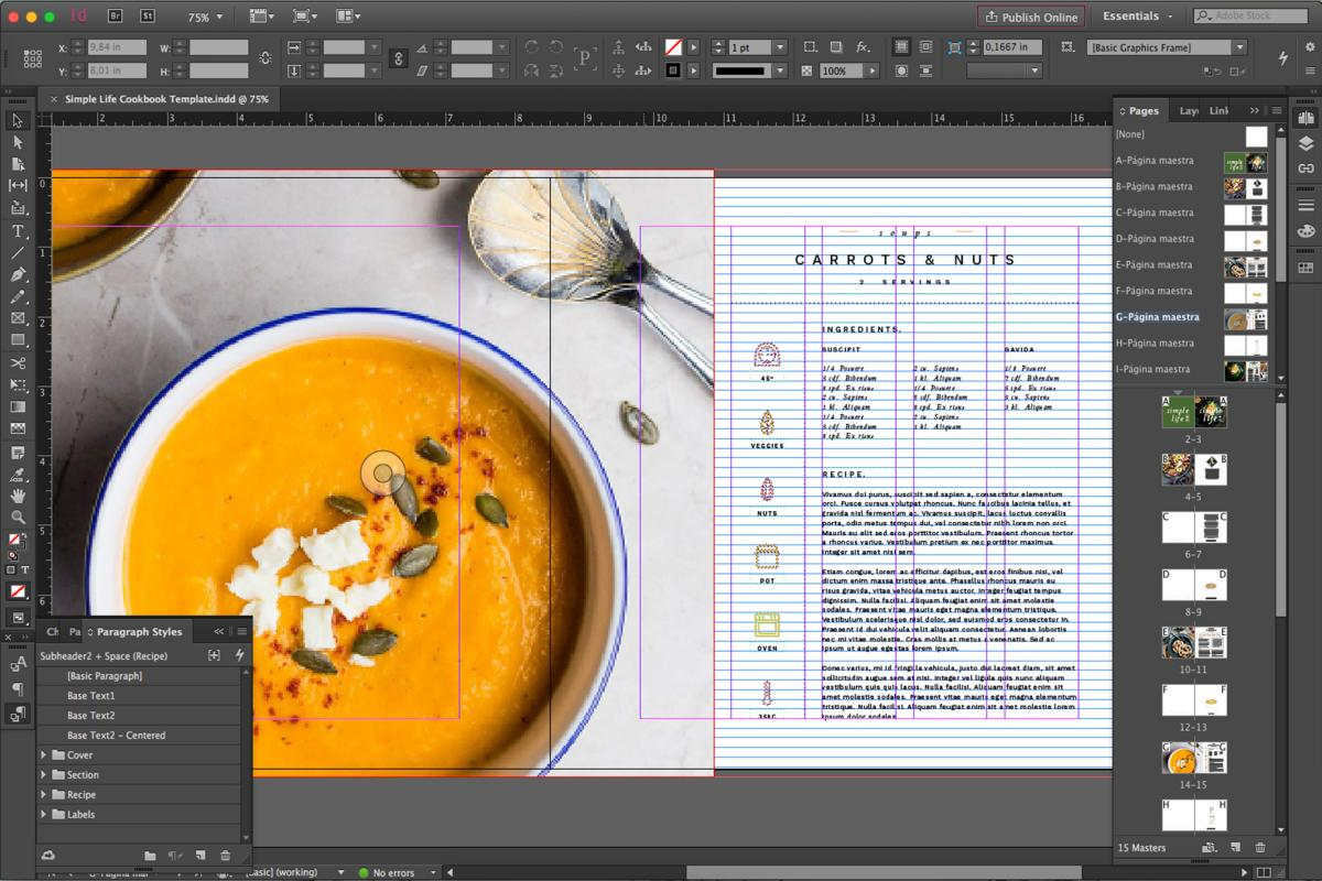 Free Template For Cookbook