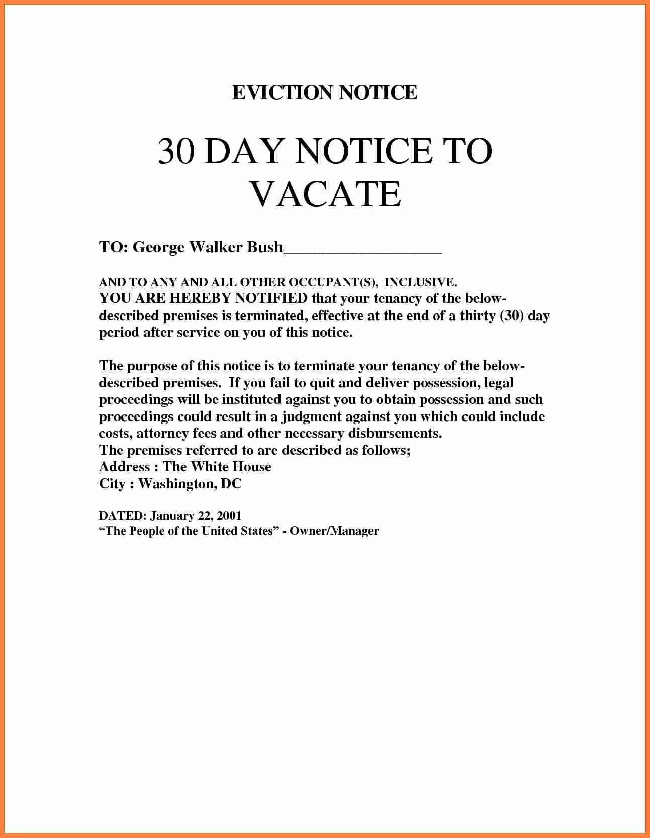 Free Tenant Eviction Notice Template