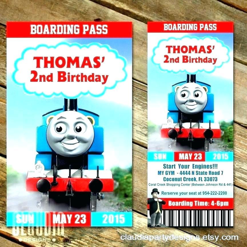Free Thomas The Train Ticket Invitation Template