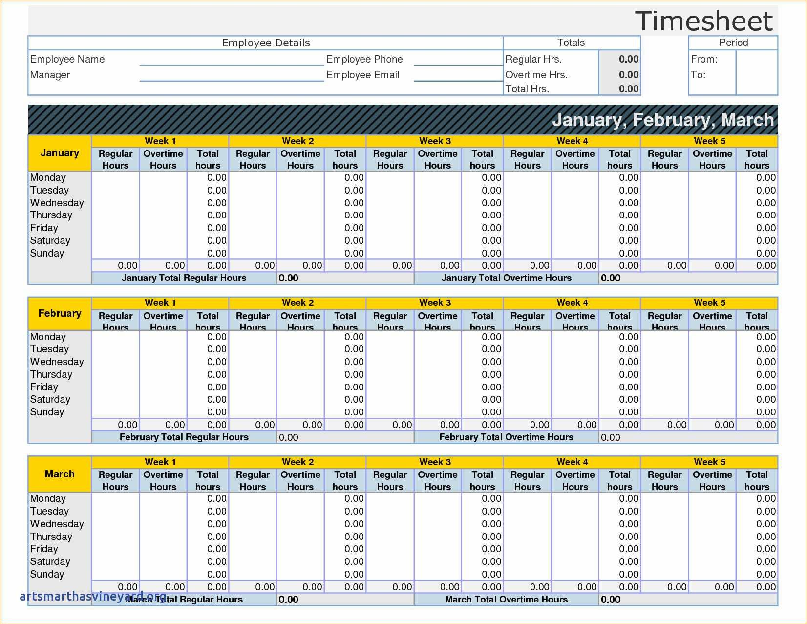 Free Timesheet Template For Multiple Employees