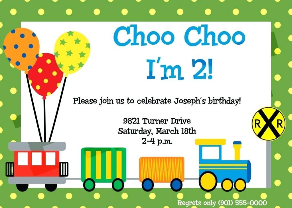 Free Train Party Invitation Template