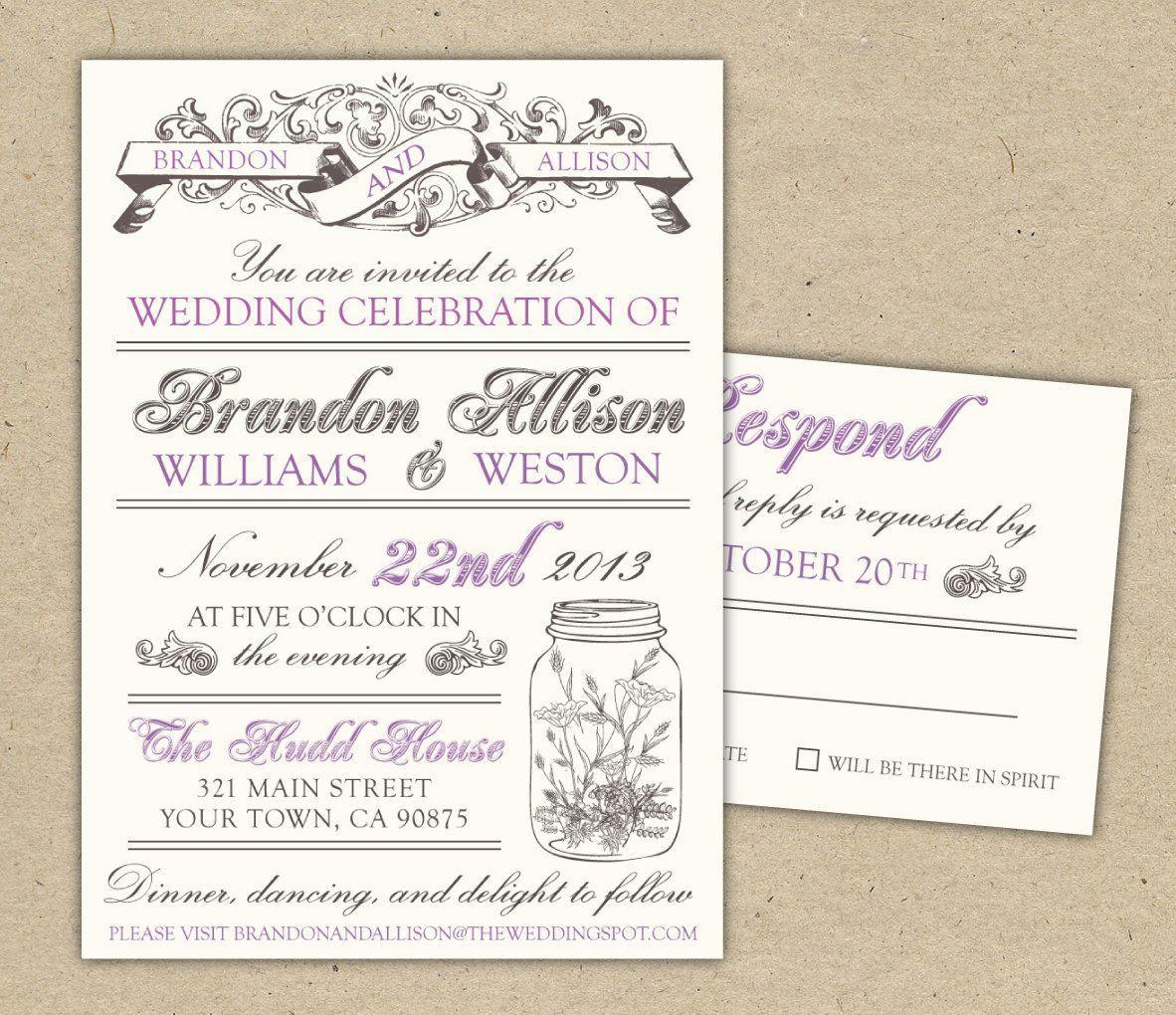 Free Vintage Wedding Invitation Templates Download