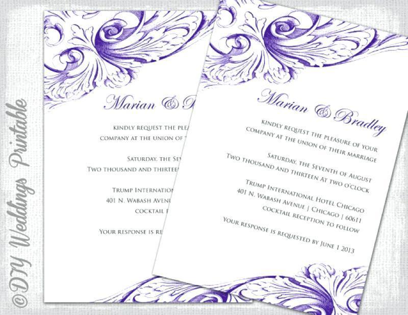 Free Wedding Dress Invitation Templates