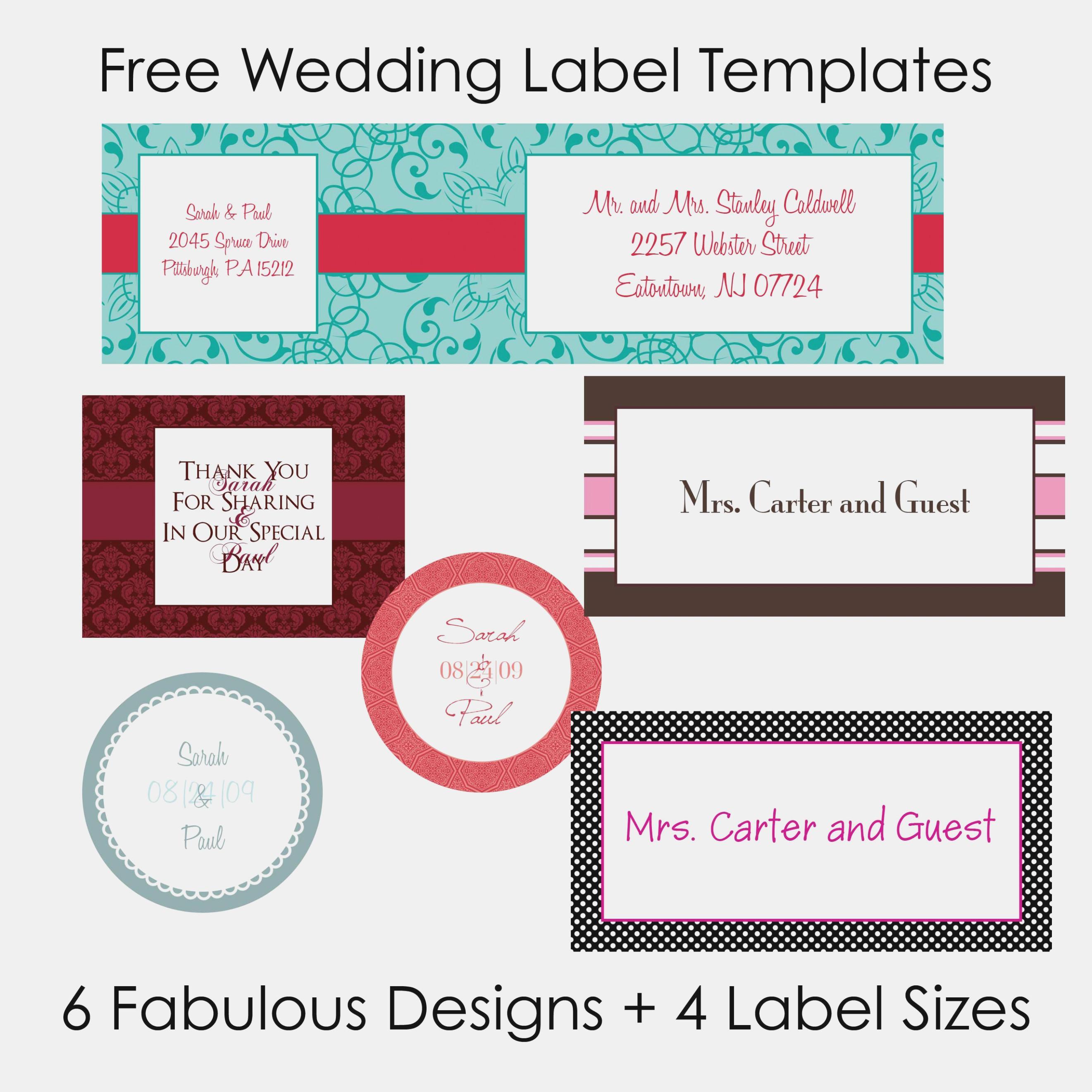 Free Wedding Mailing Label Templates