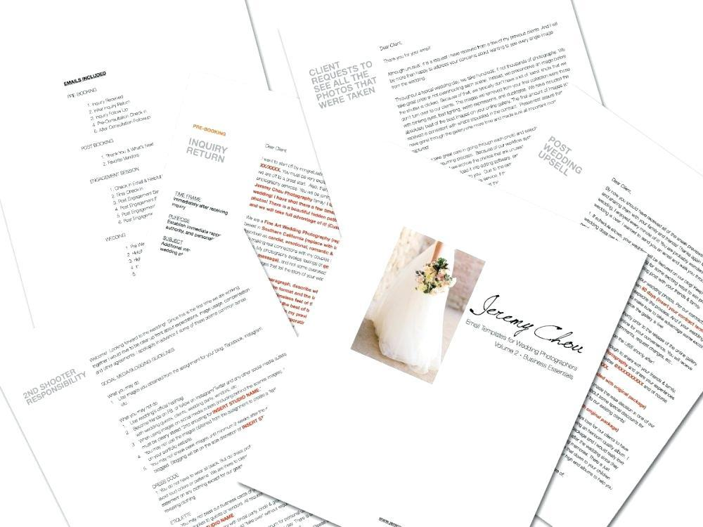 Free Wedding Photographer Email Templates
