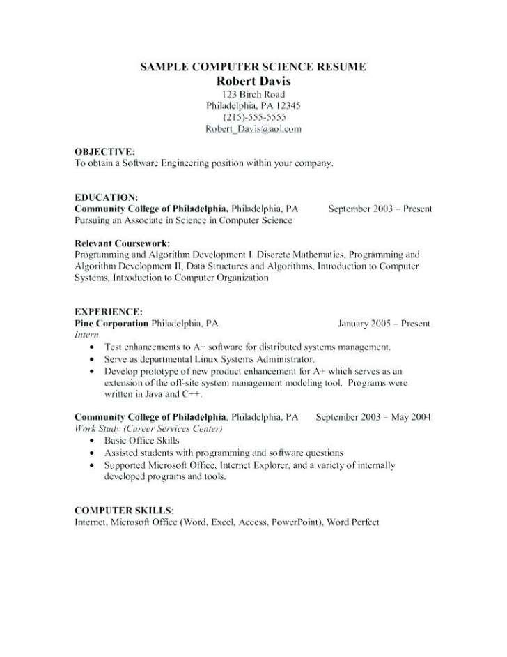 Fresher Software Engineer Resume Template Microsoft Word