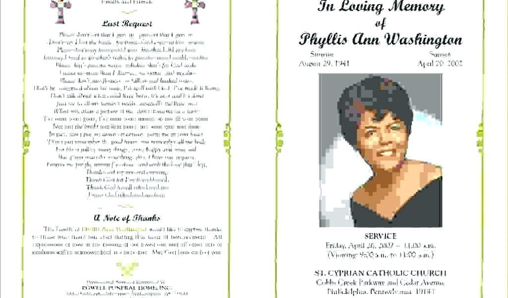 Funeral Mass Booklet Word Template