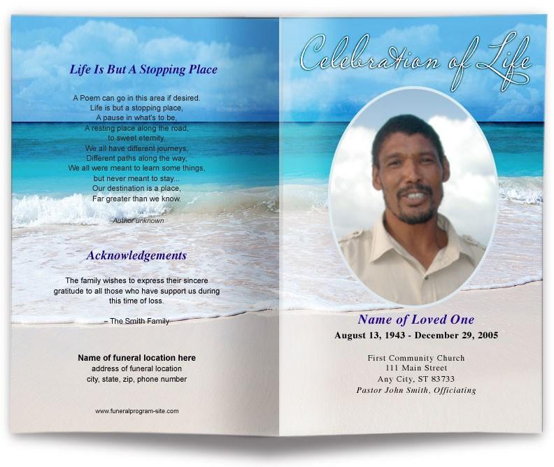 Funeral Obituary Programs Templates