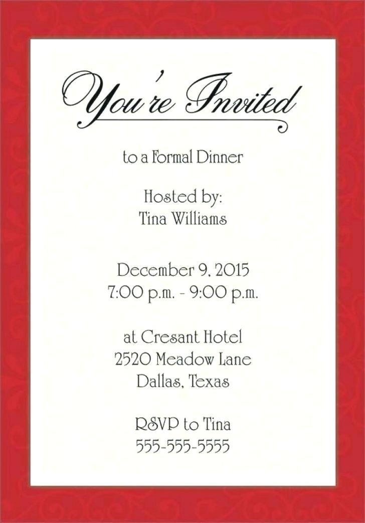 Business Dinner Party Invitation Wording Templates 40701