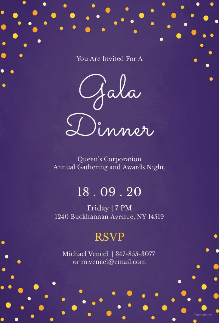 Gala Dinner Invitation Template Free