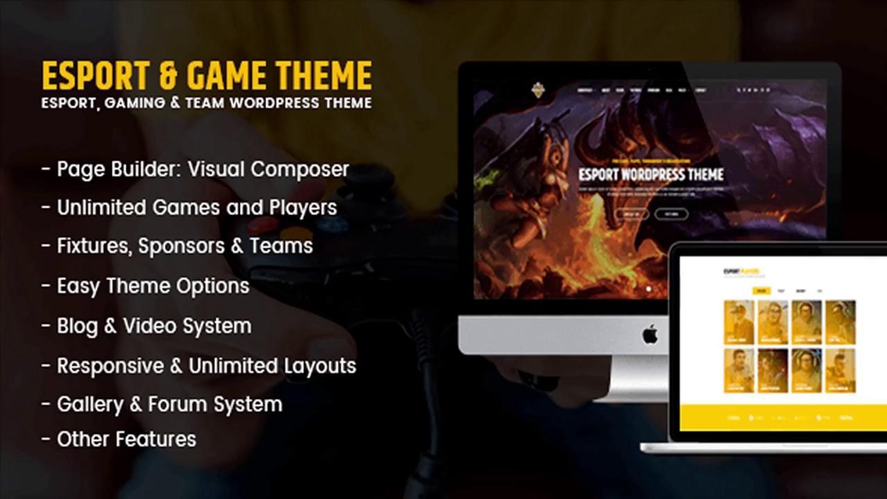 Gaming Website Templates Wordpress