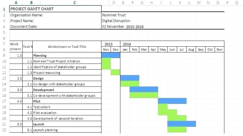 Gantt Chart Template For Excel 2013 From Microsoft