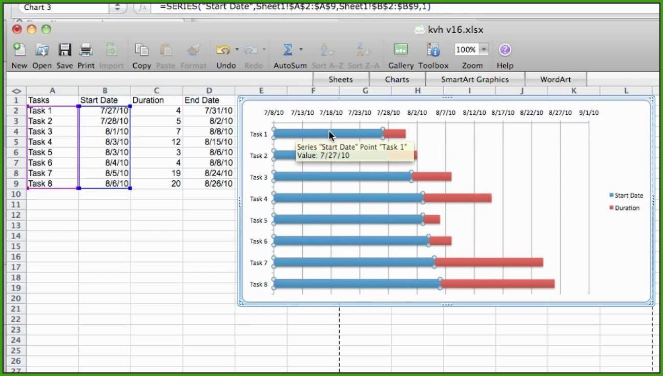 Gantt Chart Template Mac