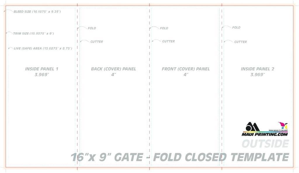 Gate Fold Brochure Template Word