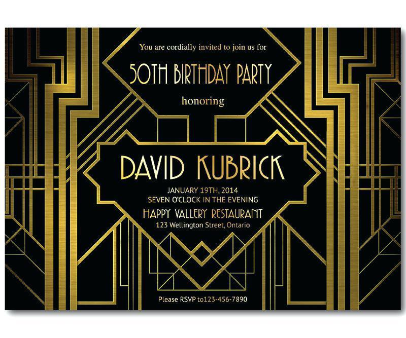Gatsby Invite Template Free
