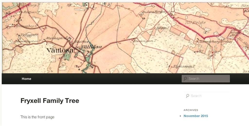 Genealogy Website Templates Wordpress