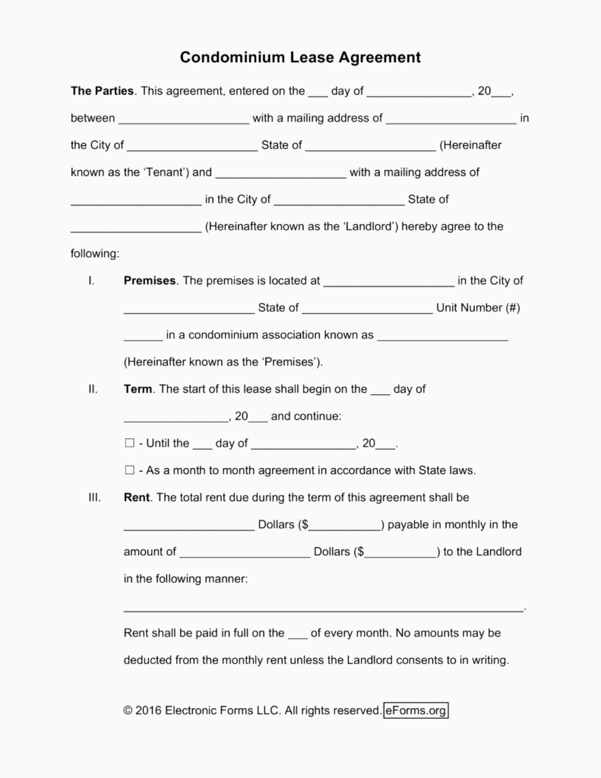 Georgia Month To Month Lease Agreement Template