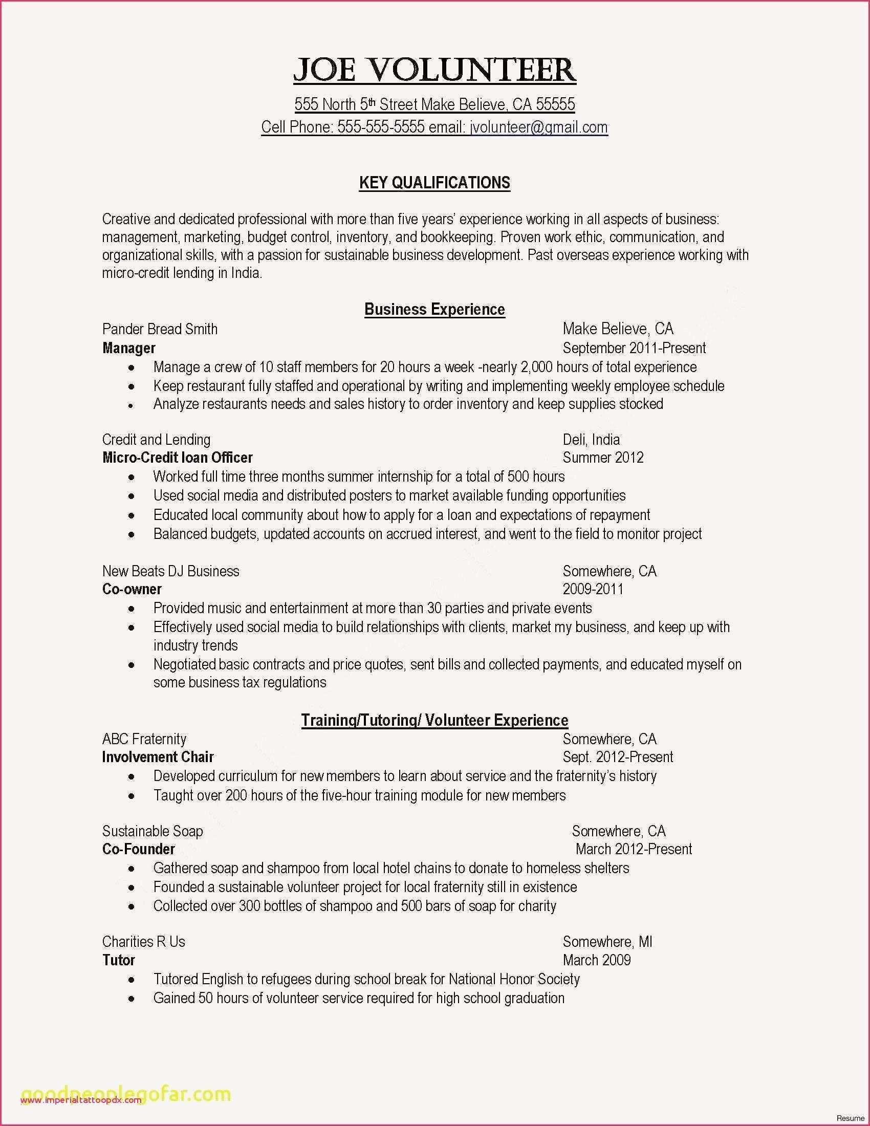 Good Resume For Laborer