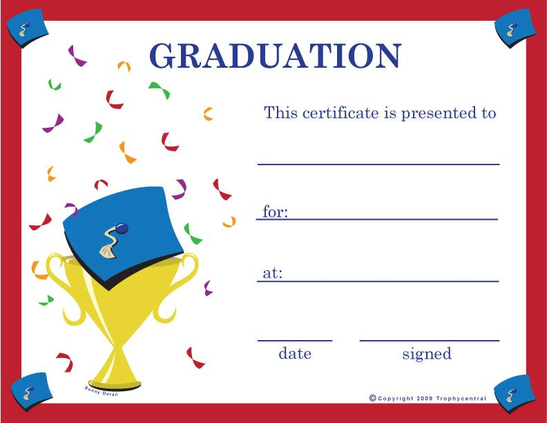 Graduation Certificate Template With Photo
