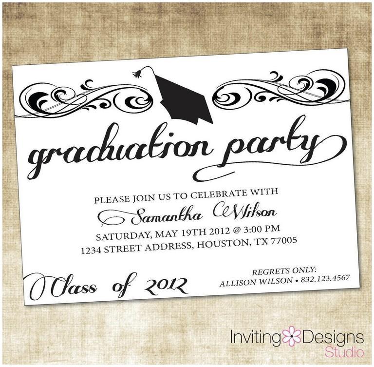 Graduation Invitations Templates For Microsoft Word