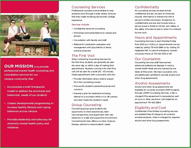 Group Counseling Brochure Template