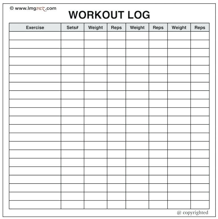 Gym Log Book Example