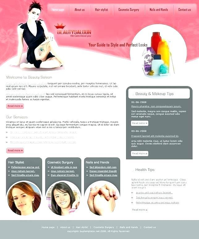 Hair Beauty Salon Website Templates