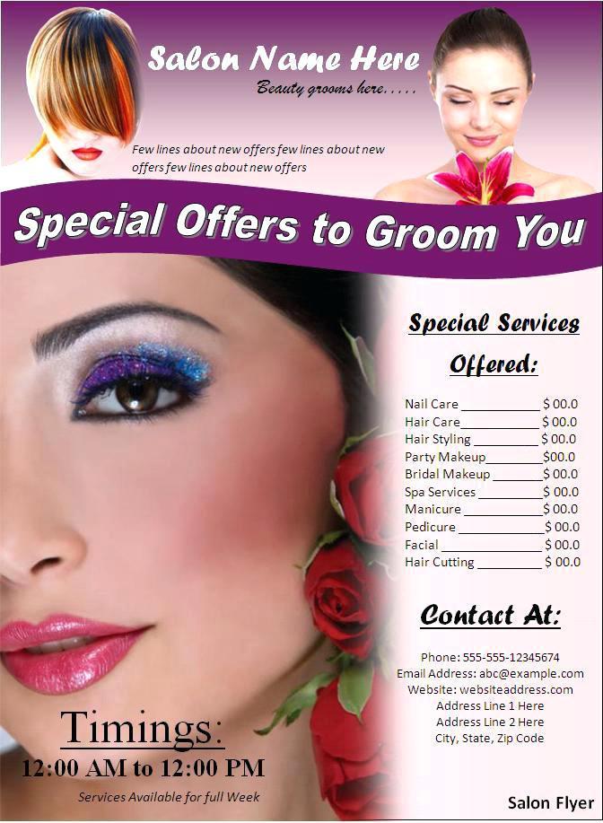 Hair Salon Brochure Templates Free