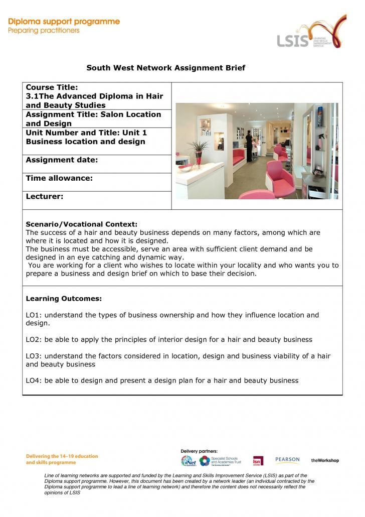 Hair Salon Business Plan Samples
