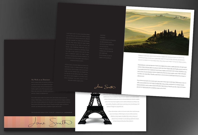 Half Fold Brochure Template Illustrator