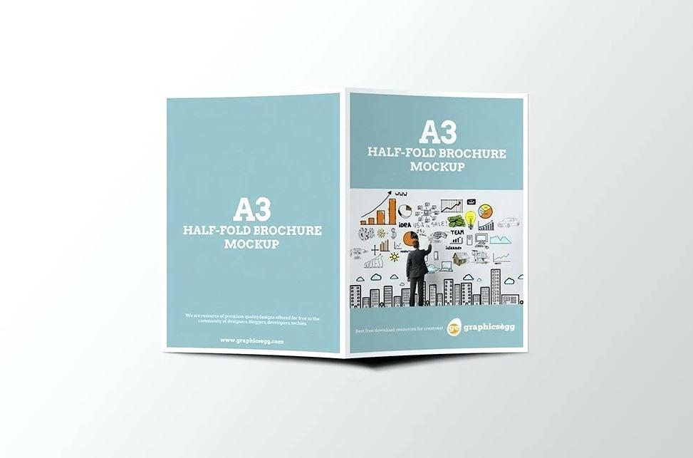 Half Fold Brochure Template Pages