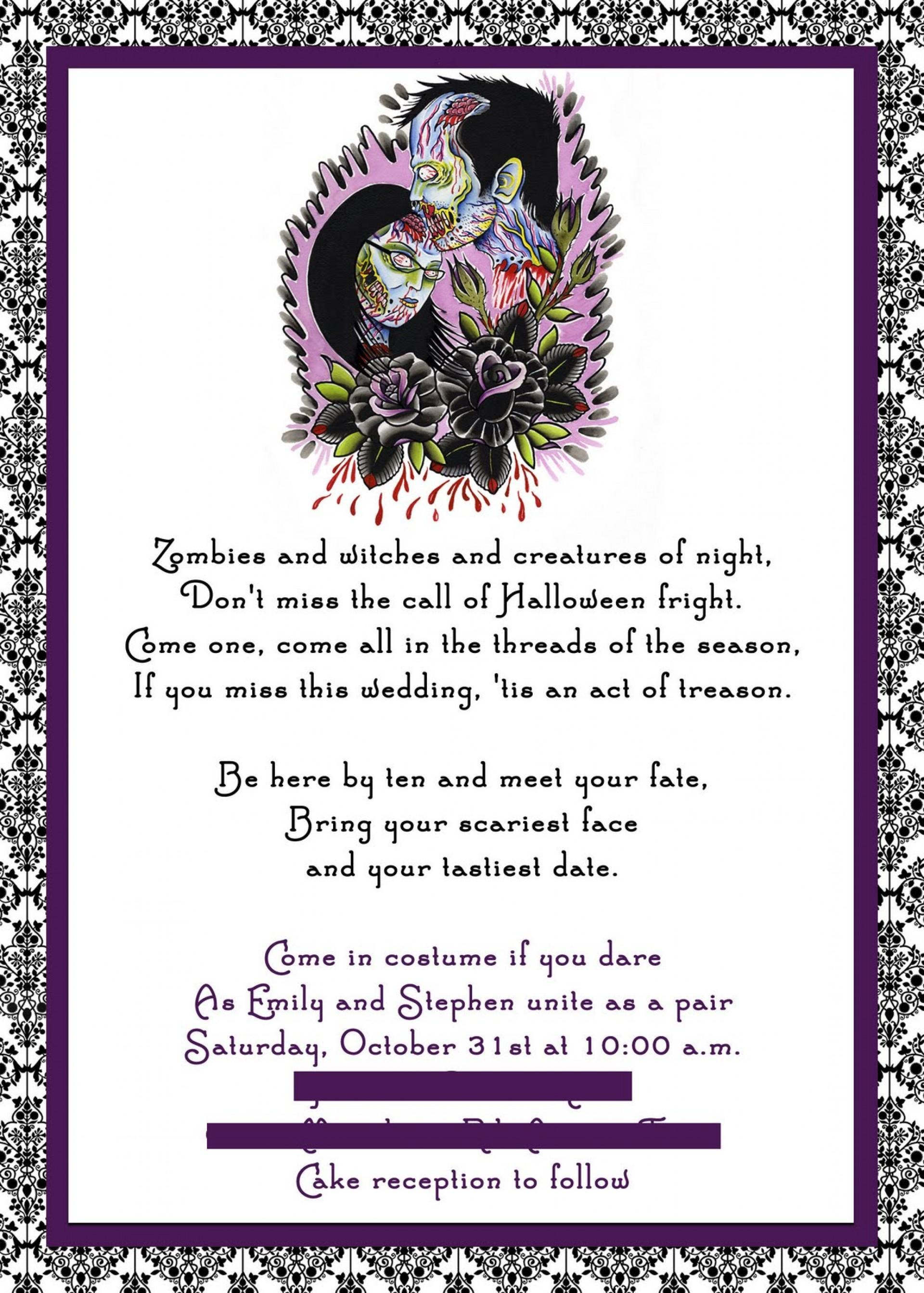 Halloween Wedding Invitations Templates Free