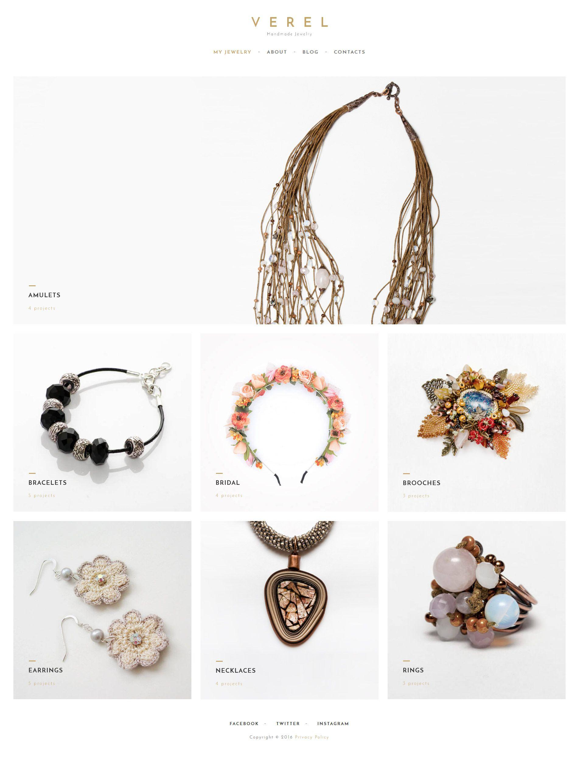 Handmade Jewelry Websites Templates