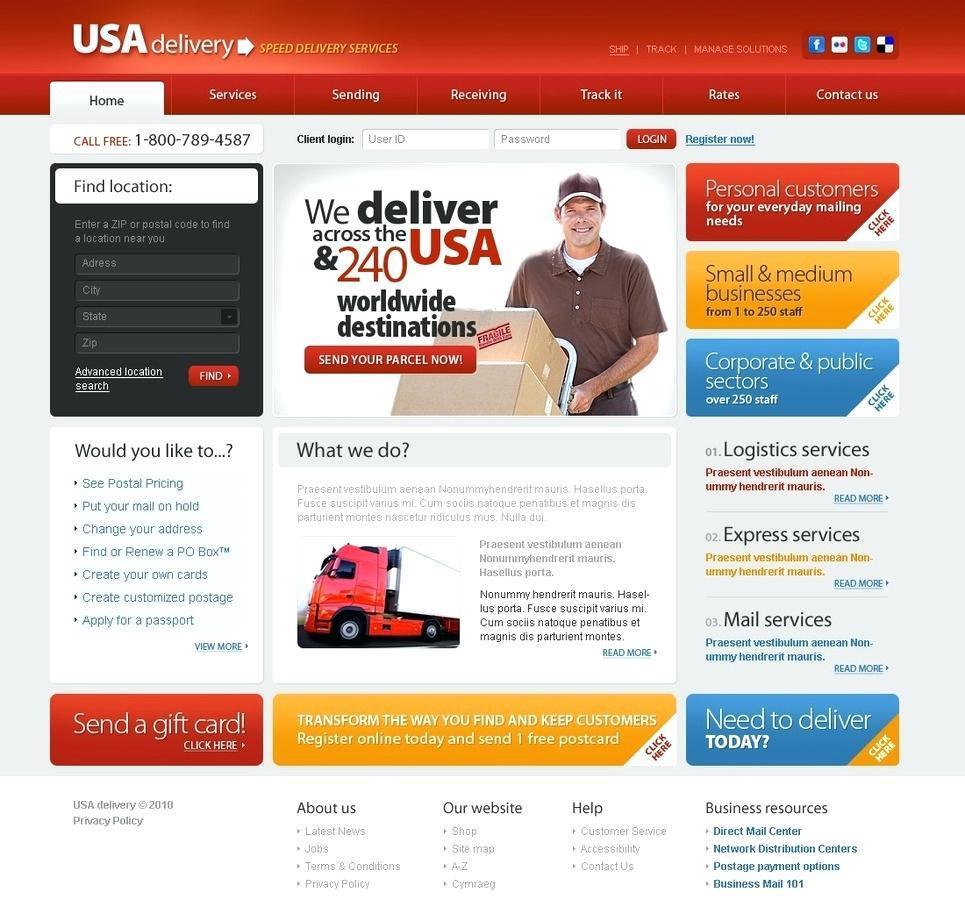 Handyman Website Template Free