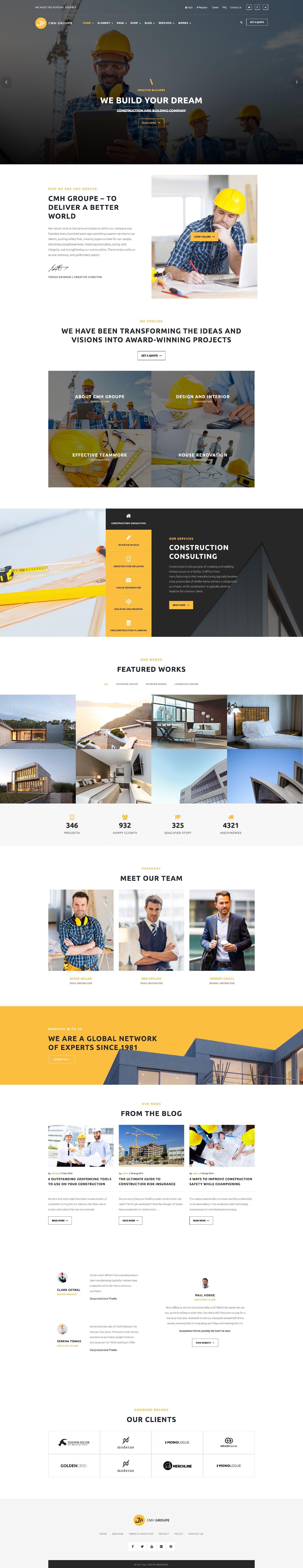 Handyman Website Template Wordpress