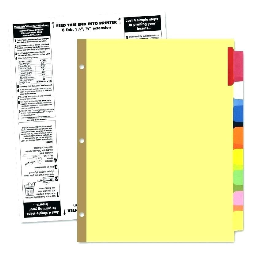 Hanging File Folder Plastic Index Tabs Template