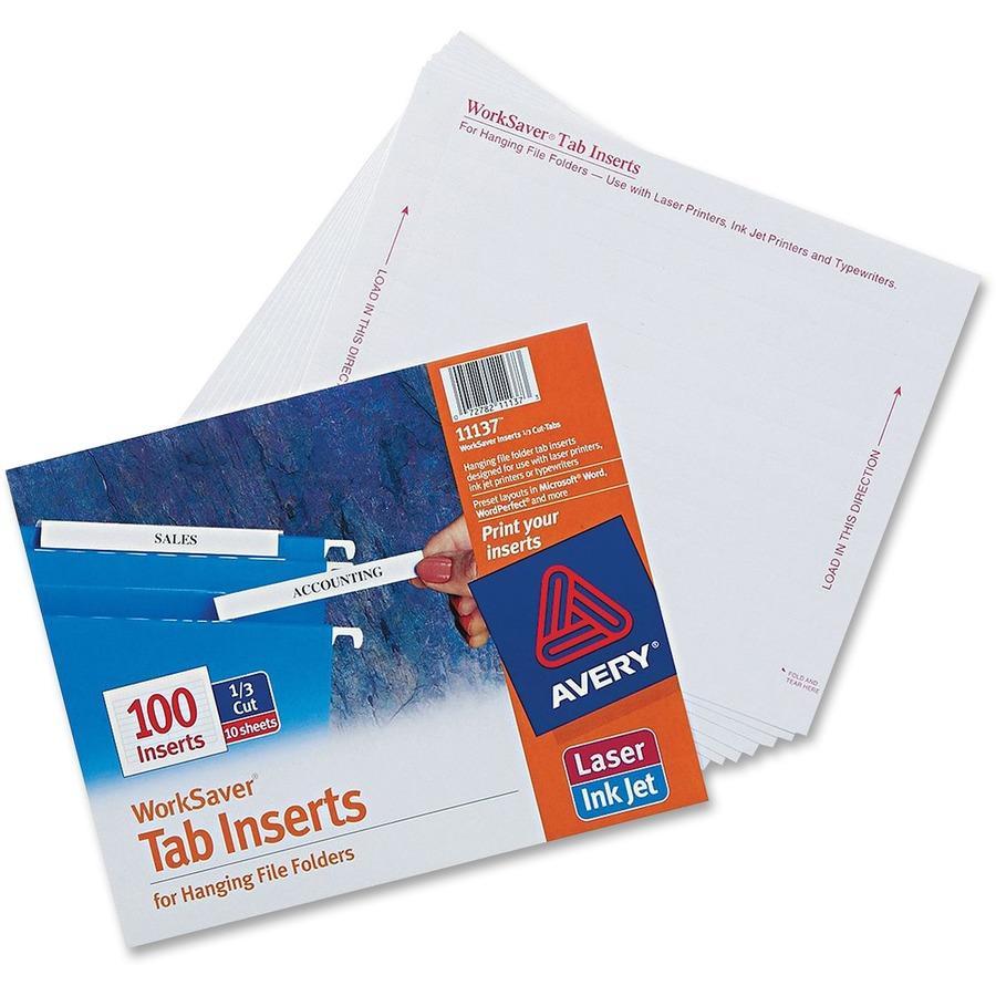 Hanging File Folder Tabs 15 Cut Template