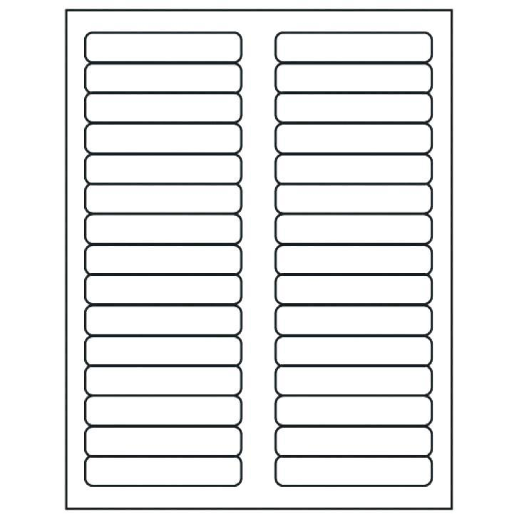 Hanging File Tab Label Template