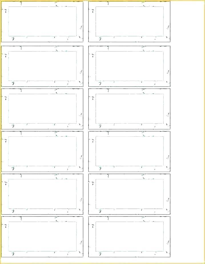 Hanging Folder Tabs Template