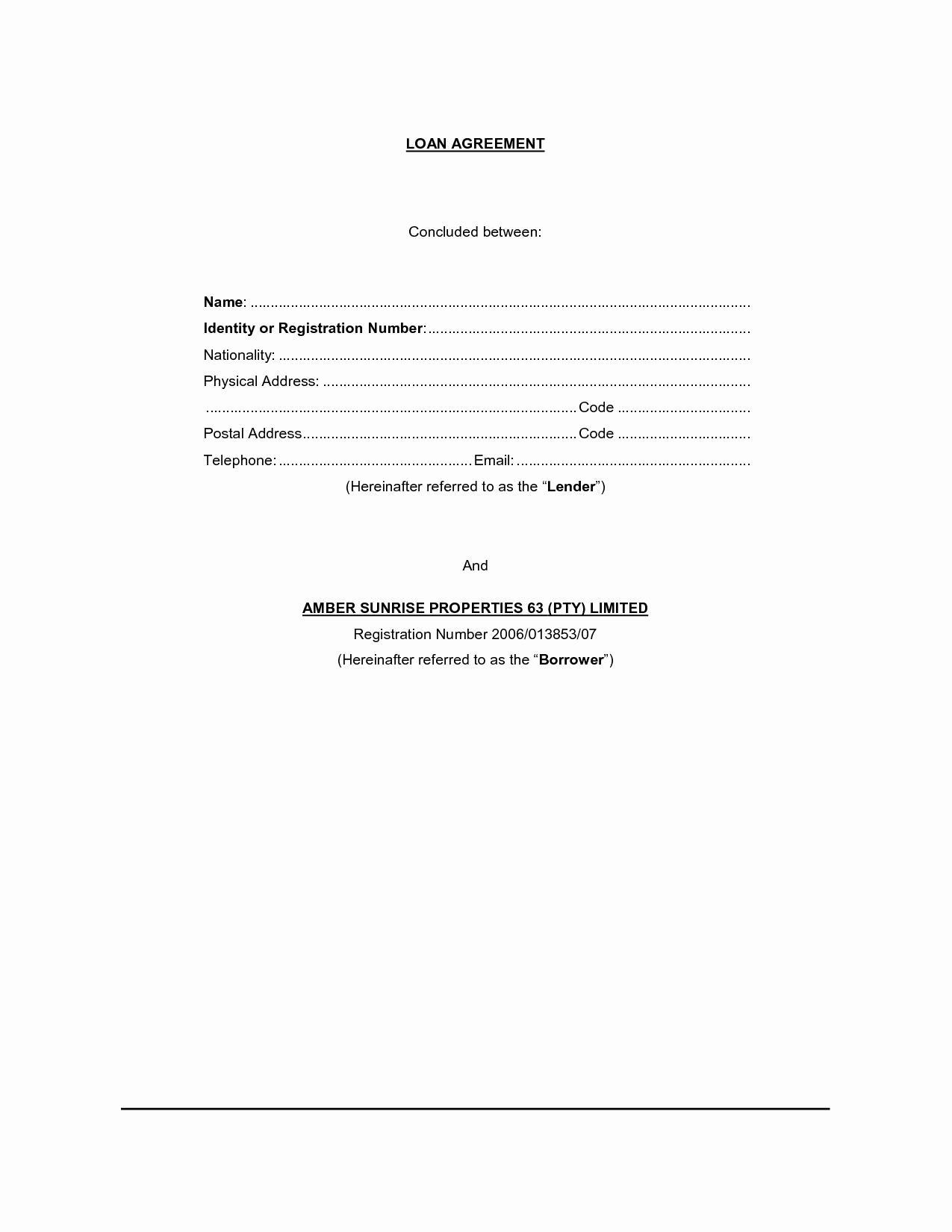 Hard Money Loan Contract Template