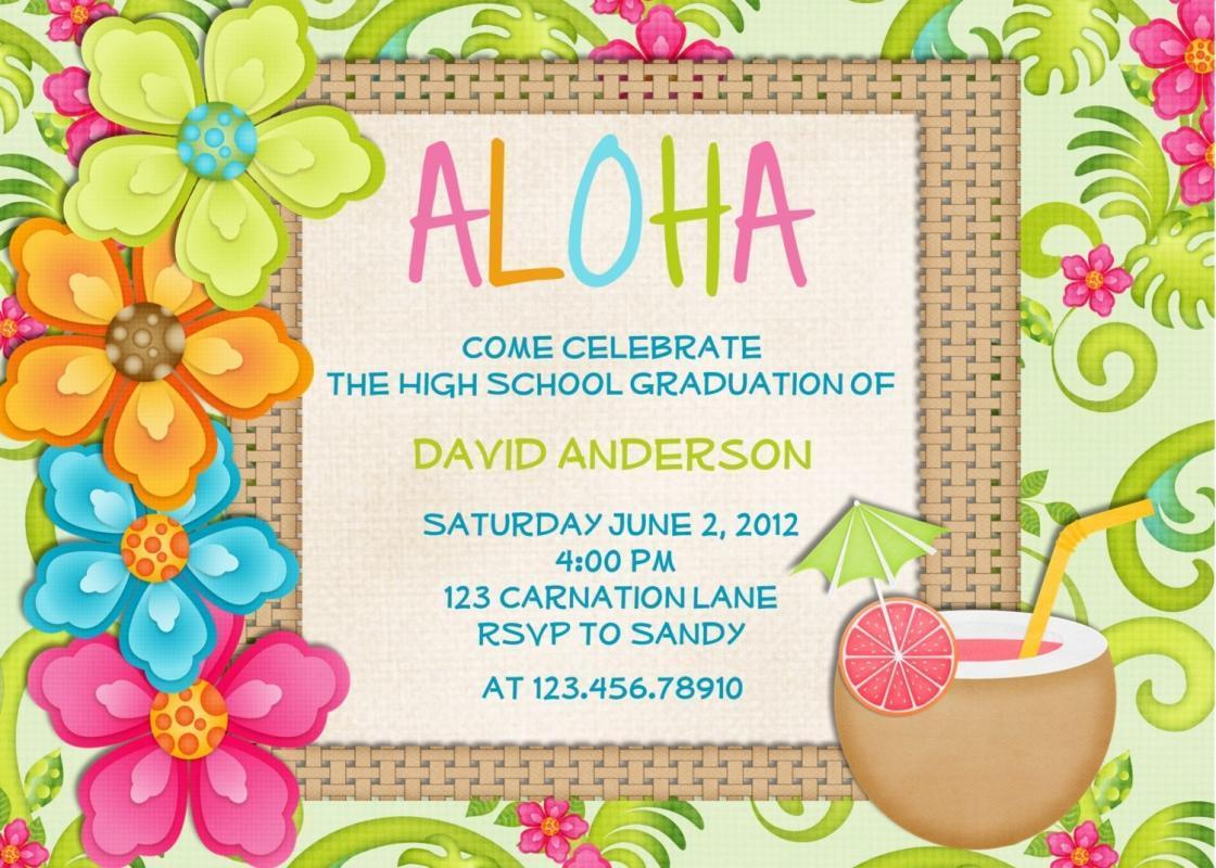Hawaiian Party Invitation Template Free